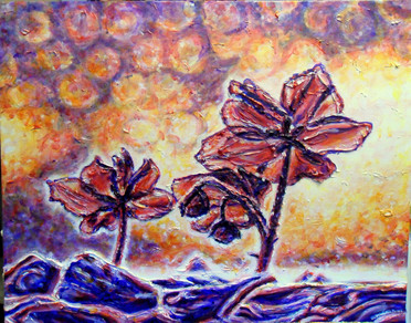 The Light Behind Acrylic Painting by Michelle Thevenot