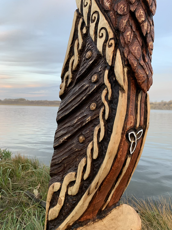 Viking Ship Figurehead - Norse Stag Deer - Detail Chest