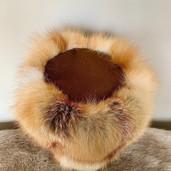Fox fur pillbox hat