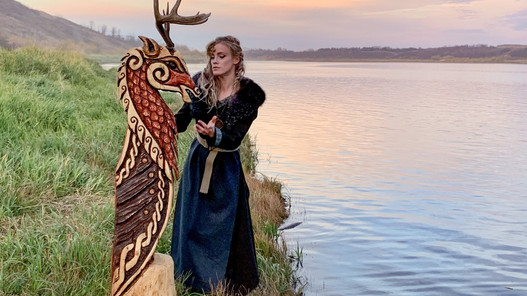 Creating a Norse Stag Viking Ship Figurehead