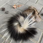 Skunk fur keychain