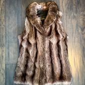 Fur vest restyled from vintage coat