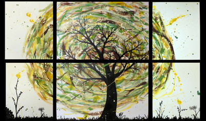 Tree of Life Acrylic Painting by Michelle Thevenot