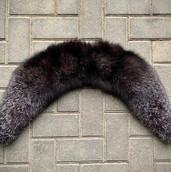 Real silver fox fur collar custom handma