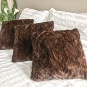 Mink fur pillows
