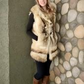 Fur coat restyle into vest