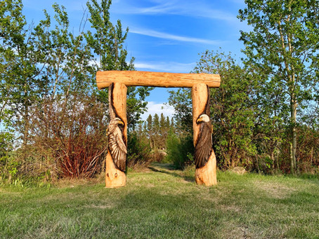 """Walk Through & Discover the Underlying Message of the """"Portal of Healing"""" Eagle Sculpture"""