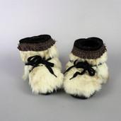 Toddler size fur booties