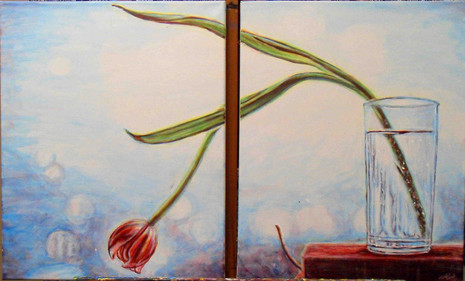 Tulip Acrylic Painting by Michelle Thevenot