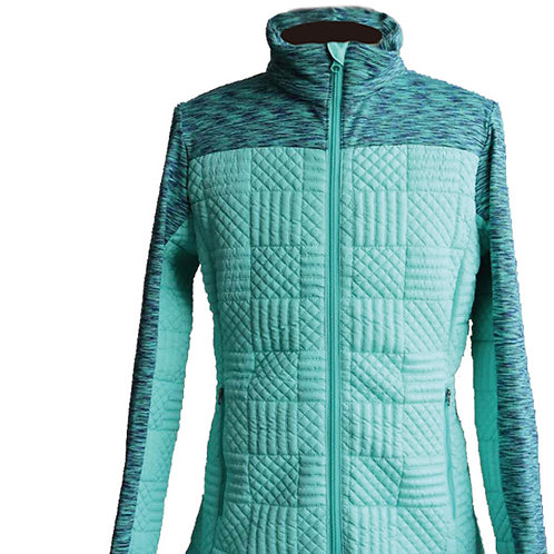 Women's hybrid insulated jacket