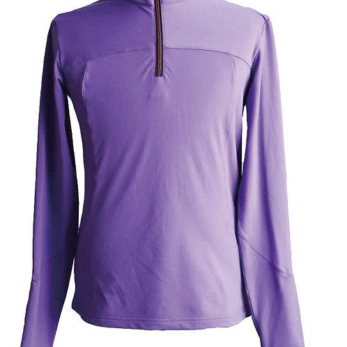 Women's power through poly 1/2 zip jacket