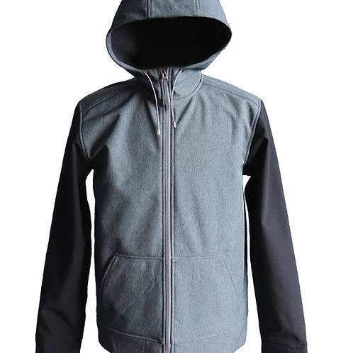 Men's outdoor front-zip windproof softshell jacket
