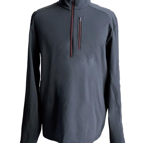 Men's power through poly 1/2 zip jacket