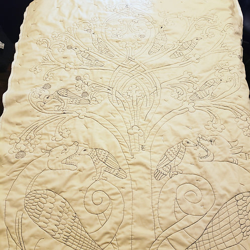 Whole Cloth Quilt - Birds and Beasts