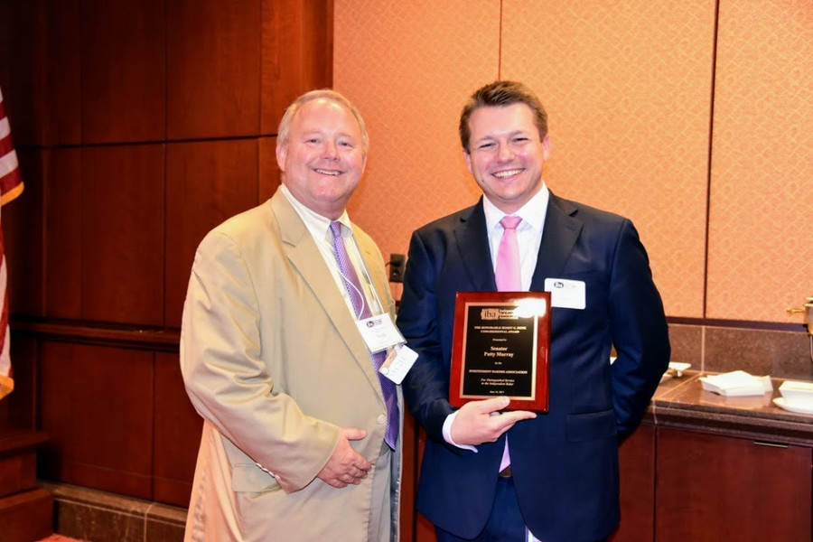 Presentation of IBA's Horst G. Denk Legislative Service Award to Senator Patty Murray's (D-WA) Staffer