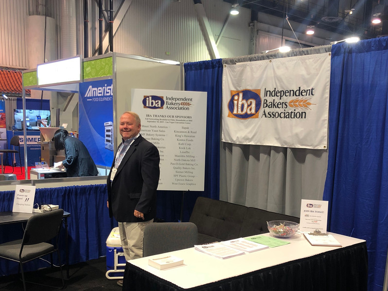 IBA President Nick Pyle at IBA's IBIE Booth