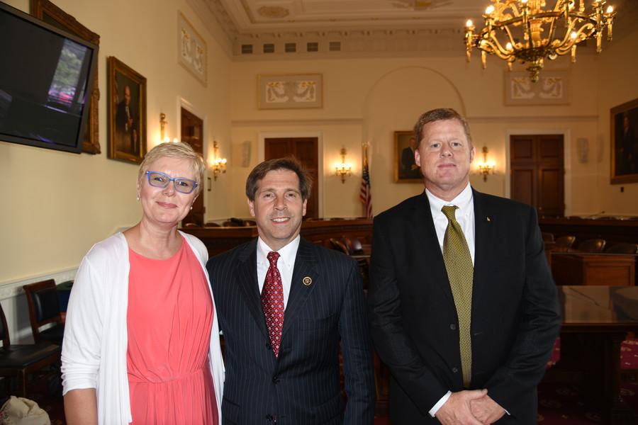 IBA Board Members Connie Vaughan and Scott Barth with Congressman Chuck Fleischmann (R-TN)