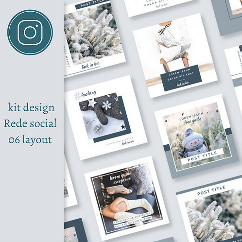 Kit 06 Layouts Rede Social