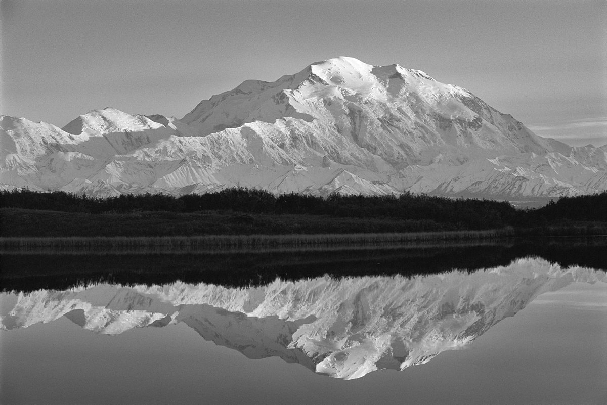 Denali Reflections Black and White