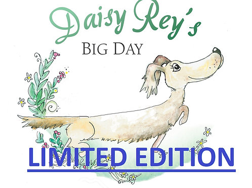 Signed and pawtographed copy of Daisy Rey's Big Day