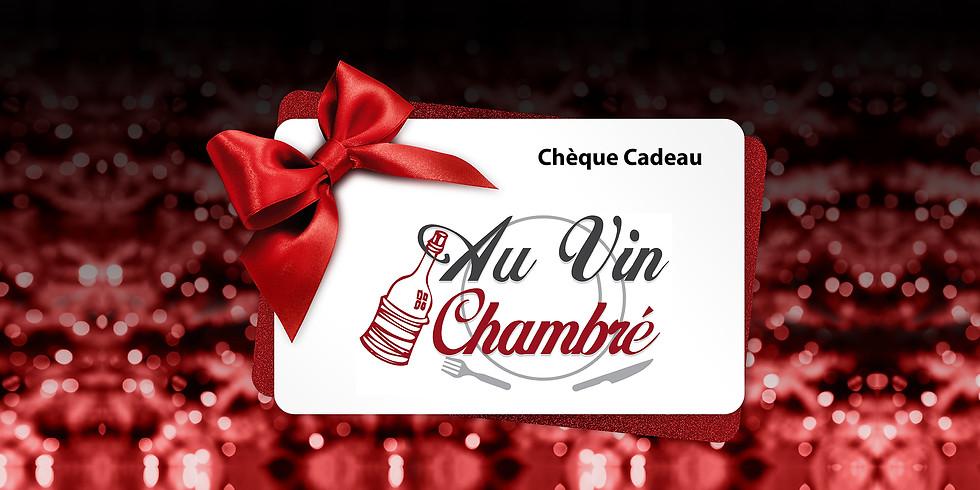 Bon cadeau Au Vin Chambré