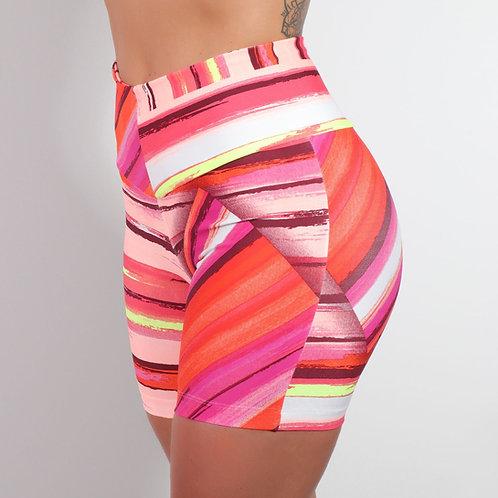 Short print red stripes