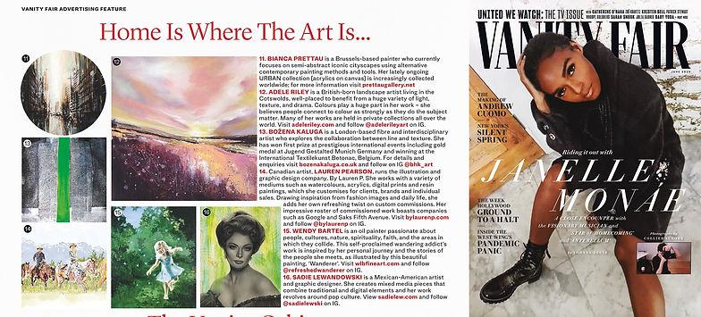 VANITY FAIR UK Home is Where the Art is-