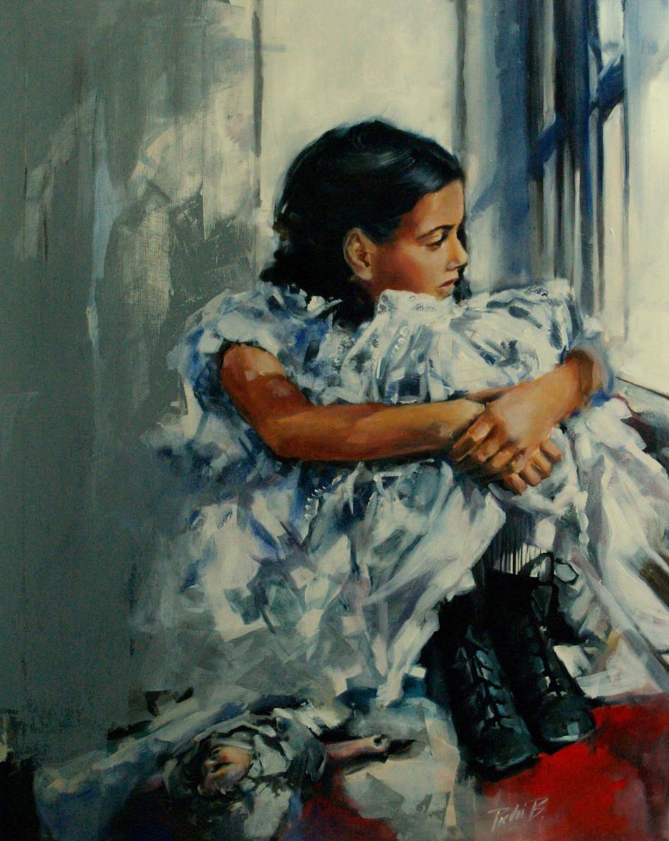 Dido at window, oil on canvas, 100X80, 2014, Rotterdam, RIAF.JPG