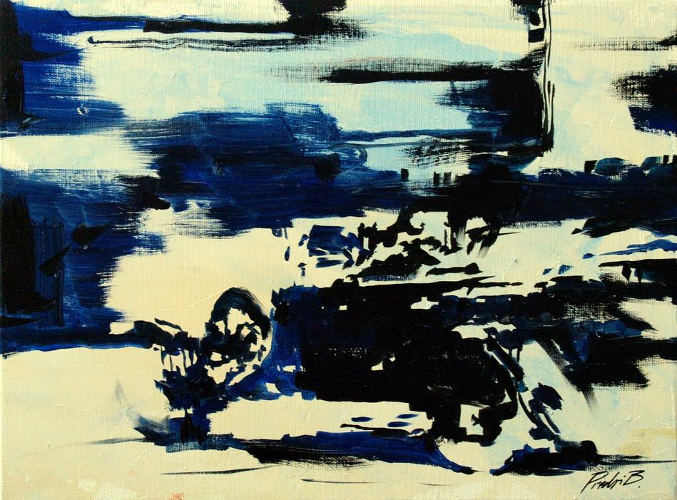 Q_stencil, retromobile, 30X40cm, oil on canvas, 2014.JPG