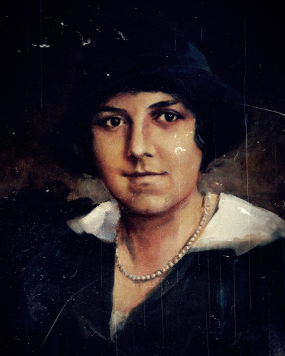 the potrait of the 4th female architect in the world, Virginia Andreescu Haret (1894-1962), oil on canvas, 60X50 cm, 2014 - Copy.JPG