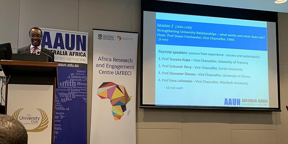 Australia Africa Universities Network (AAUN) Forum 2020