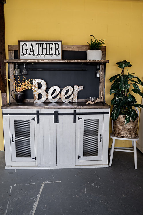 Custom 4-Door Industrial Bar