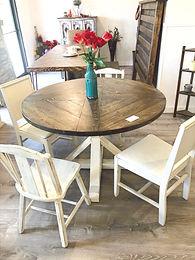 "48"" Round Farmhouse Dining Table"