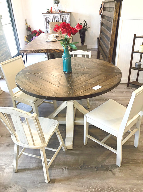 "48"" Round Farmhouse Dining Table"