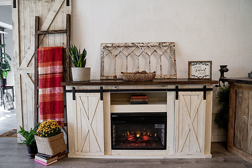 Custom Electric Fireplace Buffet/TV Stand