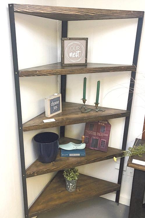 Industrial Corner Bookshelf