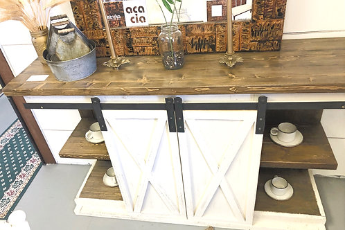 5ft Farmhouse Sliding Door Buffet/Bar