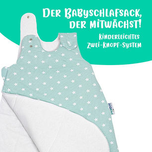 Babyschlafsack_Sterne_celadon-grün_2_Dru