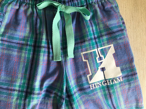 *SALE* HINGHAM Aqua Plaid PJ Pant- ADULT