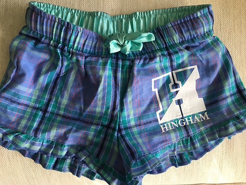 HINGHAM Aqua Plaid PJ Shorts- YOUTH