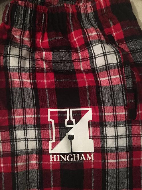 HINGHAM Red/Black Plaid PJ Pants- ADULT