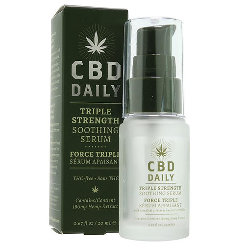 Click to enlarge image CBD Daily Triple Strength Soothing Serum 0.67fl oz./20m