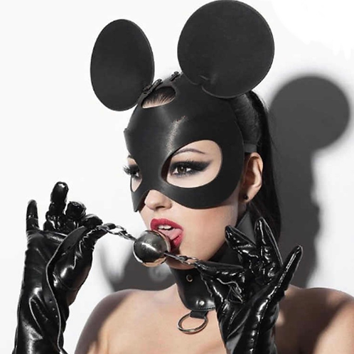 Faux Leather Mouse Mask