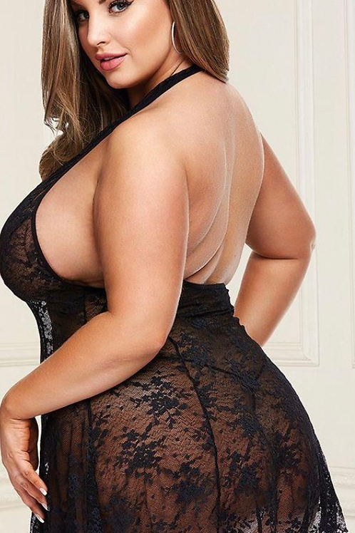 Head Over Heels Black Lace Babydoll