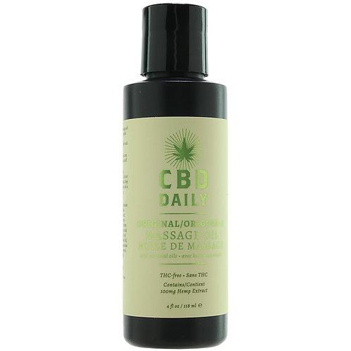 CBD Daily Original Massage Oil in 4oz./118ml