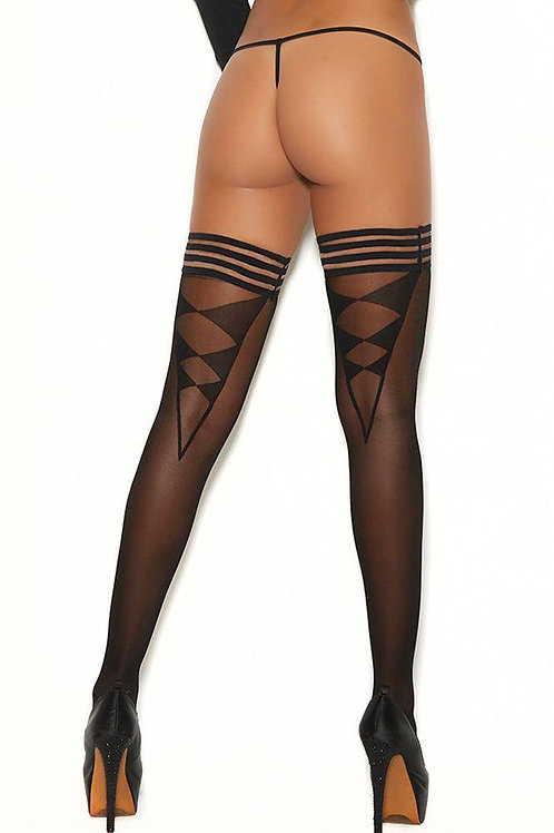Tumbling Dice Triangle Back Thigh Highs