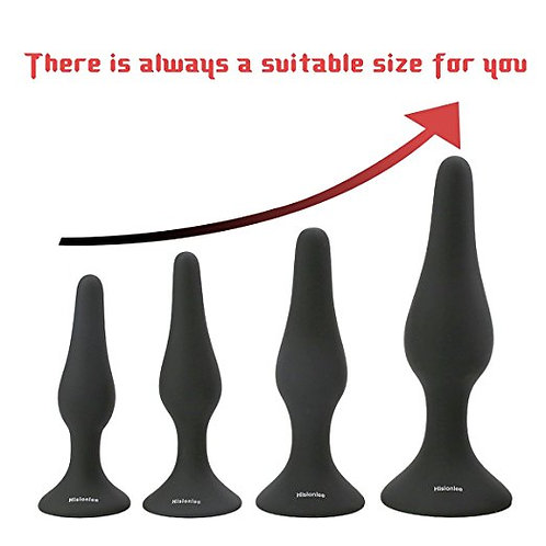 Anal Plug Set of 4 with Lube and Lube Launcher