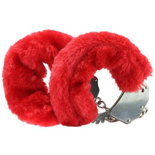 Fetish Fantasy Beginner's Furry Cuffs in Red