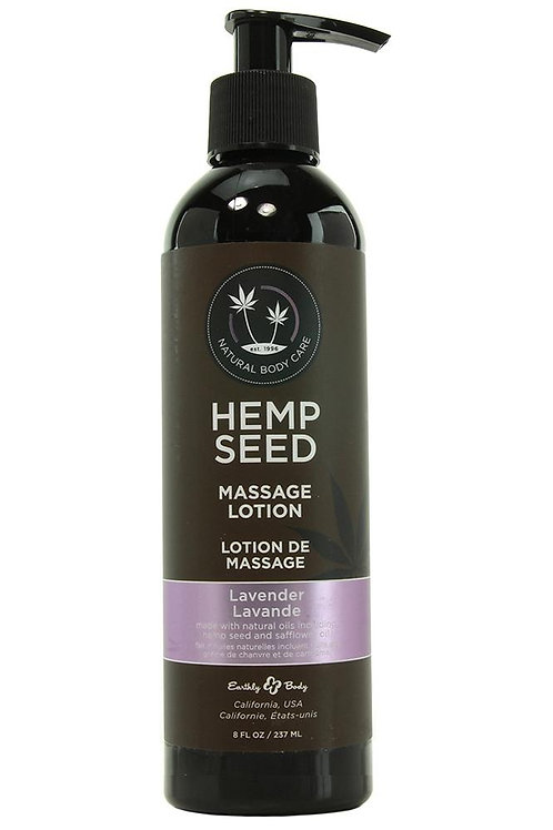 Hemp Seed Massage Lotion 8oz/237ml in Lavender