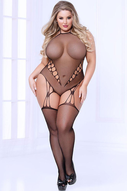 Hole Hearted Bodystocking (Curvy Available)